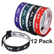 Religious Bracelets - Adjustable Religious W.W.J.D Classic Webbing Wrist Band- Pack of 12 Religious Friendship Bracelet - By Katzco