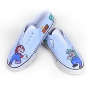 F-Gali The Mario Low Top Canvas Shoes Canvas Shoes For Women(Multicolor)