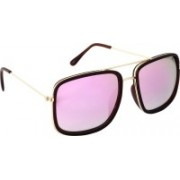 ALEE Retro Square Sunglasses(Violet)