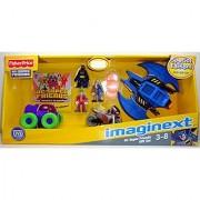 Imaginext Dc Super Friends Figures & Vehicles Gift Set -Batman Joker Two Face Batwing Batcycle & Joker