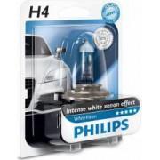 Bec auto Philips H4 12V 60 55W P43t White Vision Blister
