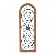 Decoratiune de perete din lemn si fier Toscana