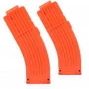 2pcs Clips De Bala Suaves 15 Balas Para Nerf N-strike Pistola Juguete - Naranja