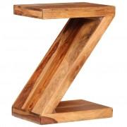 vidaXL Príručný stolík v tvare Z, drevený masív sheesham