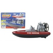 """Play Maker Toys 8"""" Rescue Patrol Boat W/ Water Action And Control Rudder With Fun Bath Tub Pool Toy Boats For Kids"""