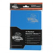 Monster Binder - 4 Pocket Trading Card Album - Matte Blue (Anti-theft Pockets Hold 160+ Yugioh, Pokemon, Magic the Gathering Cards)
