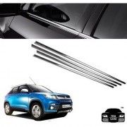 Trigcars Maruti Suzuki Vitara Brezza Car Window Lower Garnish Chrome