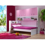 Set mobilier din MDF pat dulap 5 usi si etajera pentru camera copii