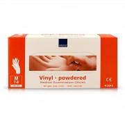 Abena - Vinyl Handschoenen - Wit - Gepoederd - Maat S - 100 Stuks