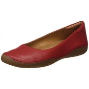 Clarks Women's Autumn Sun Red Leather Loafers & Moccasins - 5 UK/India (38 EU)