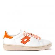 Lotto Sneaker Lotto Leggenda Autograph in pelle bianca e arancione