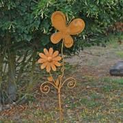 Tuteur papillon à planter 168x34 cm