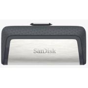 Stick USB Sandisk Ultra Dual Drive, 128GB, USB Type C (Gri/Negru)