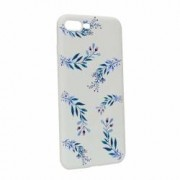 Husa Apple iPhone 7 Plus 8 Plus Silicon Blue Flower W116