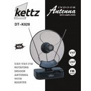 Sobna TV/FM antena Kettz DT-K028 + pojačivač