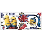 """RoomMates RMK3002GM Minions The Movie Peel and Stick Giant Wall Decals, 33.25"""" x 25.75"""
