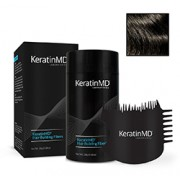 KeratinMD HAIR BUILDING FIBERS (Dark Brown) + FREE APPLICATOR COMB VALUE PACK