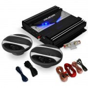 Black Line 200 - Car Hifi Set colunas e amplificador 1400W