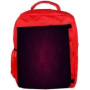 Snoogg Eco Friendly Canvas Pink Star Pattern Design Designer Backpack Rucksack School Travel Unisex Casual Canvas Bag Bookbag Satchel 5 L Backpack(Red)