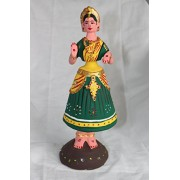 Tanjore Dancing Doll 27 inch Green - Home Decors