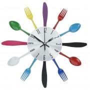 Zegar kuchenny ścienny SZTUĆCE metalowy 30 cm