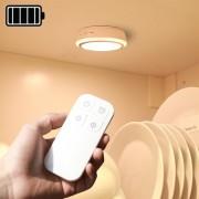 Batteridriven trådlös led-belysning / lampa med fjärr - Varmvit