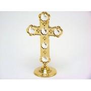 Cruce placata aur cristale Swarovski