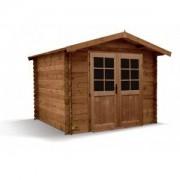 Abri de jardin en bois emboité LOANN 298x298 ep 28mm - 7.51 m2