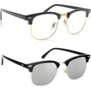 Phenomenal Clubmaster Sunglasses(Clear, Silver)