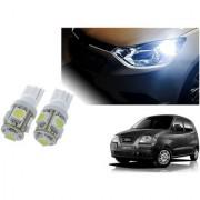 Auto Addict Car T10 5 SMD Headlight LED Bulb for Headlights Parking Light Number Plate Light Indicator Light For Hyundai Santro