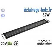 Rampe LED 32W étanche IP67 pour Aquarium Blanc et bleu 90-125cm 20V ref rpa-05
