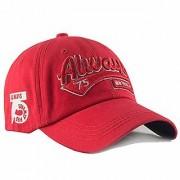 DaTeen Embroidered 75 Always Cotton Cap for Men Women (Unisex) Fashion Adjustable Strip Snapback Sportswear Hat