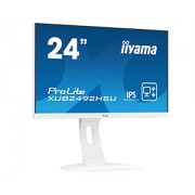 iiyama 24' WHITE, ETE ULTRA SLIM LINE , 1920x1080, ETE IPS-panel, 13cm Height Adj. Stand, Pivot, 250 cd/m², Speakers, VGA, HDMI, DisplayPort, 4ms (23,8' VIS)