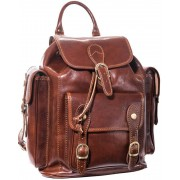 Luciano Fabrini Multi Pocket Leather Backpack