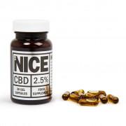 Full-spectrum CBD gel capsules 2.5%