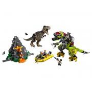 Lego T. rex vs. Dinosaurio Robótico
