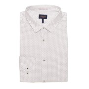 【72%OFF】クロスドット 胸ポケット ショートポイントカラー 長袖シャツ グレー m ファッション > メンズウエア~~その他トップス
