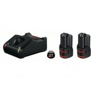 Комплект 2 x акумулаторна батерия GBA 12 V 2,0 Ah + зарядно GAL 12V-40 Professional, 1600A019R8, BOSCH