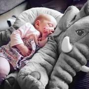 EW Almohada Suave De Bebe Para Dormir ER Peluche De Elefante-Gris