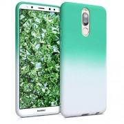 kwmobile Funda para Huawei Mate 10 Lite Carcasa de TPU para móvil y diseño Bicolor en Menta/Blanco