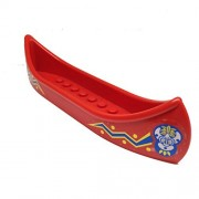 Parts/Elements - Boats Lego Parts: Boat Canoe with Islanders Pattern Stickers on Both Sides