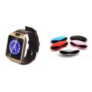 Zemini DZ09 Smartwatch and Rugby Bluetooth Speaker for SAMSUNG GALAXY TREND LITE(DZ09 Smart Watch With 4G Sim Card Memory Card| Rugby Bluetooth Speaker)