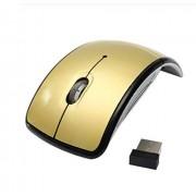 N/A factory Receptor Nano Mini Travel Mouse-Hilos Plegable 2.4G Notebook silenciosa ratón USB for portátil de Escritorio (Color : Gold)