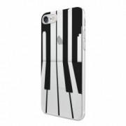 Husa Silicon Transparent slim Piano Apple iPhone 5 5S SE