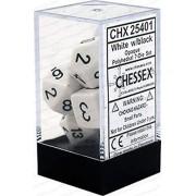 Chessex CHX25401 Dice-Opaque White/Black Set