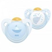 NUK Baby Blue Silicone Soother 2 pack - Size 2 (6 - 18 months)