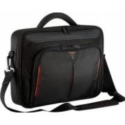 Geanta Laptop Targus Clamshell 15.6 Black-Red