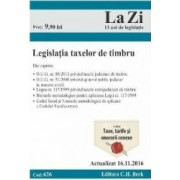 Legislatia taxelor de timbru act. 16.11.2016