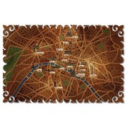 Artifact Puzzles Vladstudio Paris Map Wooden Jigsaw Puzzle