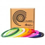 XYZ Printing XYZPrinting 3D-Pen PCL Low Temp Filament 72g - 9 random colors - 8 meters of each color